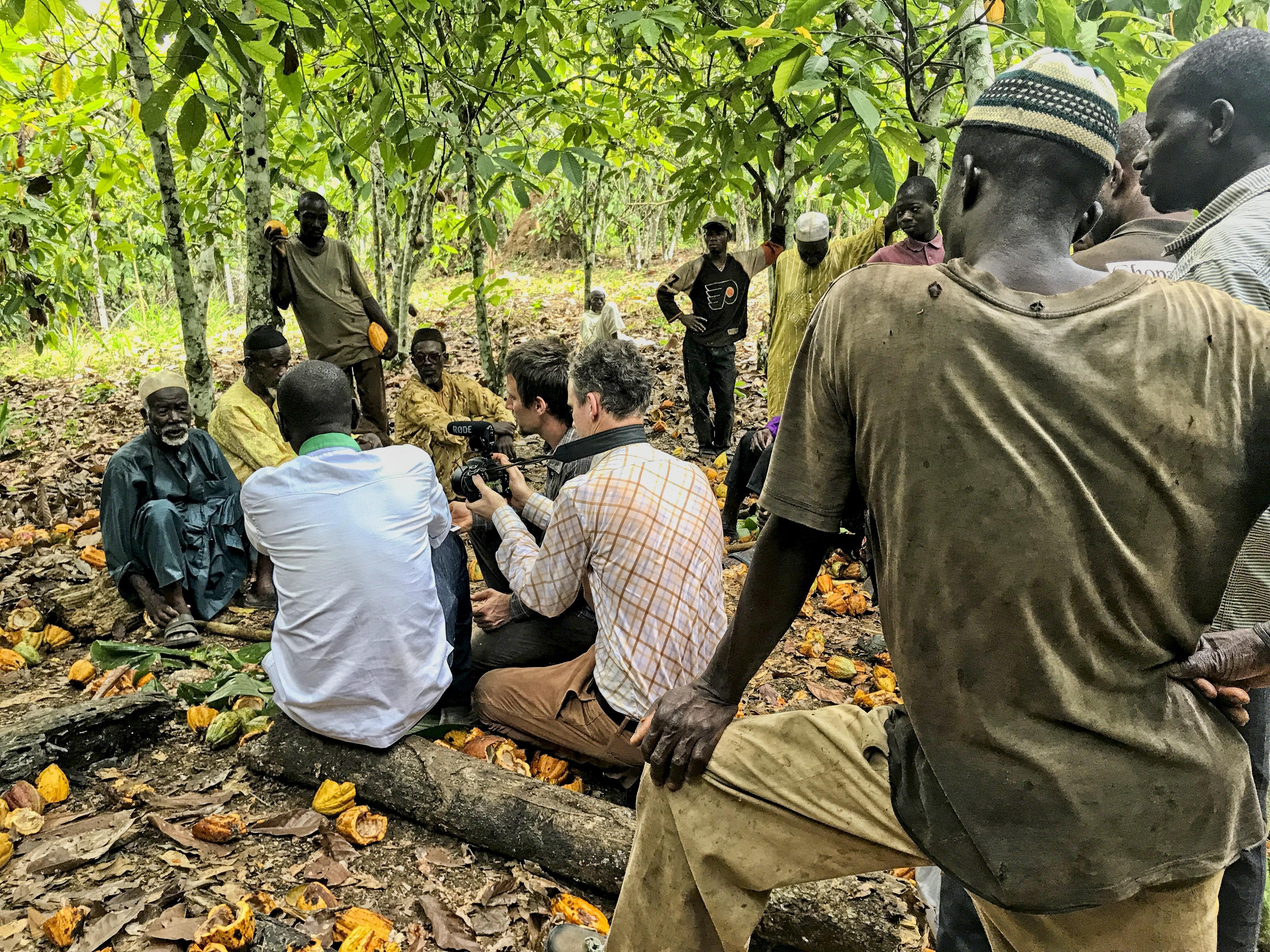 Rozhovor s pěstiteli kakaa v západní části Pobřeží slonoviny