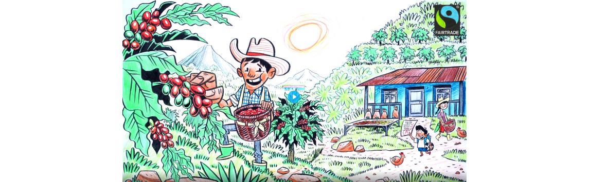 Animovaný spot upozorňuje na to, že Fairtrade je součástí boje proti klimatickým změnám